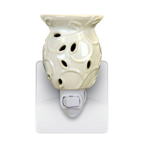 Decorative Ceramic Wall Plug-in Tart/Wax Candle Warmer (Cream Ivy) by oocc (Image #1)
