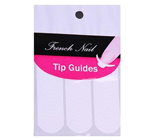 So Beauty 1 X 3 Sheets Nail Art French Tips Stickers Form Fringe Guides 100pcs Each Sheet DIY French Nail Sticker