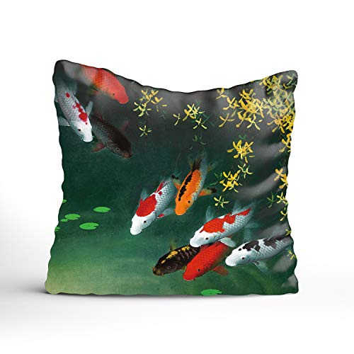 FunnyLife Swimming Fish Throw Pillow Covers Home Decorative Throw Pillow Cases Couch Covers -