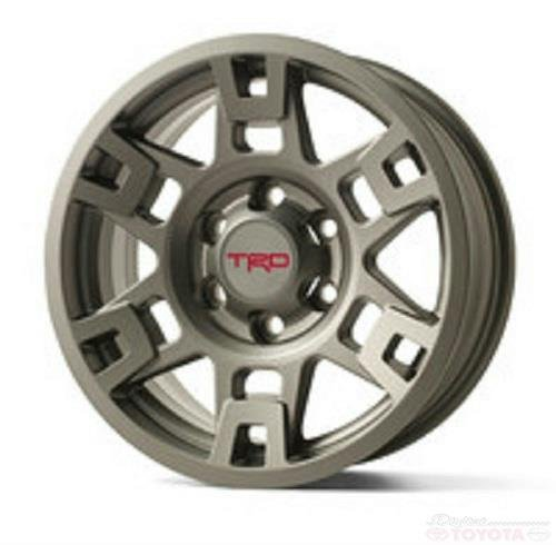 TOYTOA TMS TRD METAL GRAY 17 IN WHEEL PTR20-35110-GR SET OF 4 FJ 4RUNNER TACOMA