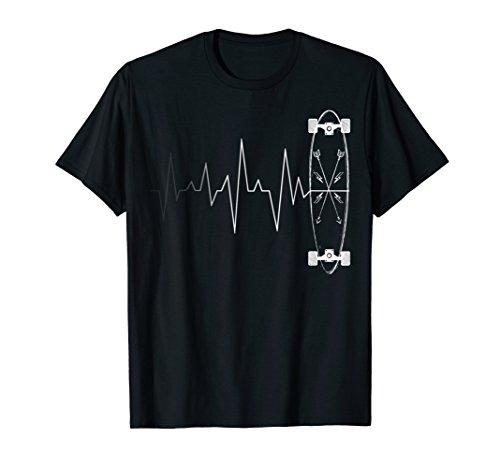 Skateboarding Heartbeat Shirt - Skateboard T-shirt Gift
