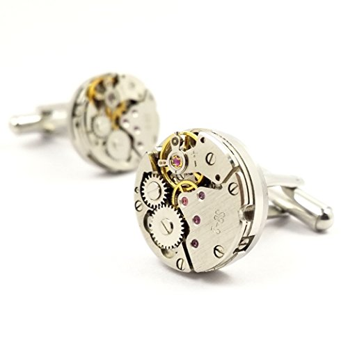 LBFEEL Cool Watch Movement Cufflinks for Men with a Gift Box by LBFEEL (Image #1)