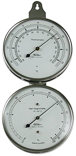 (Ambient Weather 118-01 Fischer Instruments Laboratory Grade Indoor/Outdoor Thermometer with Human Hair Hygrometer)