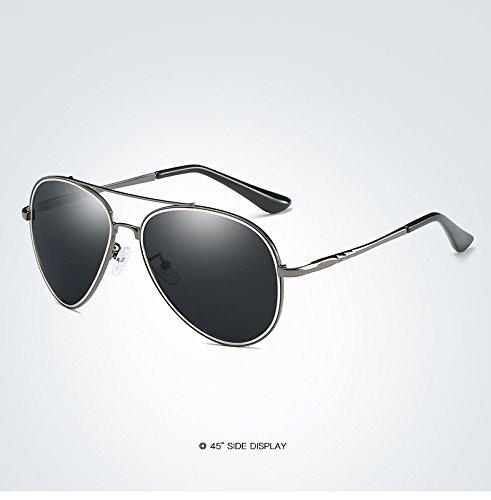 piloto de Sol Lentes Spring Moda Gafas Mirror de Polarized Hinge Sol MXNET Negro de Metal de Sol de Hombre Sol Driver Sol Gafas Polaroid Adultos Gafas para Gafas de 2 1 para de Color wpqwZ1Xx