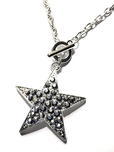 Star Toggle - Star Necklace - Toggle chain link studded