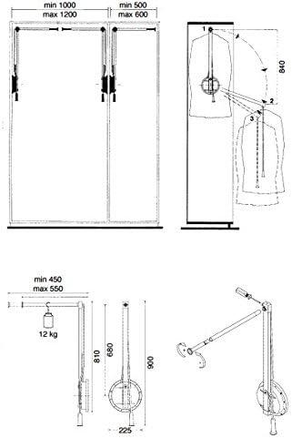 Vestidos de elevaci/ón Surepromise lift armario lift ropa de elevaci/ón single lift a la izquierda