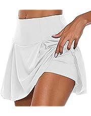 Damskie spodnie sportowe Rock 2 w 1, sportowe legginsy z spódnicą, rozciągliwe spodenki sportowe, spódnica, stretch, legginsy do tenisa, golfa