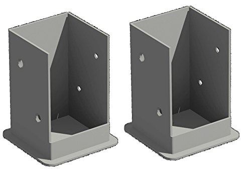 Vinyl Pergola Kits - New England Arbors Bolt Down Bracket Kit for Pergolas