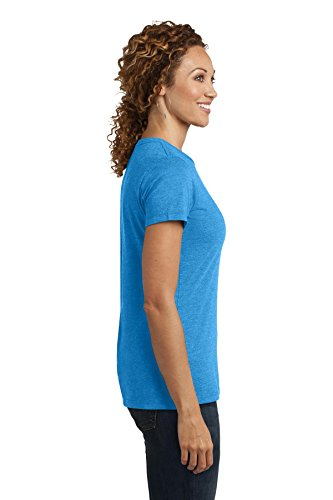 District Made Damen T-Shirt Gr. X-Large, Heathered Bright Turquoise