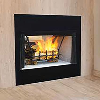 Amazon Com Superior See Thru Wood Burning Bi Fold Door In Black For