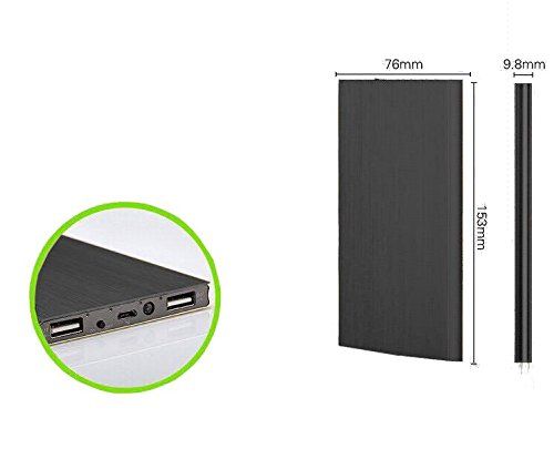 Dominion - 20,000 mAh Black portable charger for Nintendo switch + USB 3.1 to C cable bundle - External Battery Pack with Dual USB Ports - Ideal Power Bank for iPhones, Androids, Tablets & More