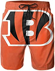 Grghtrghlsd Cincinna-Ti Football Beng-Al Men's Beach Shorts with Elastic Waist and Poc