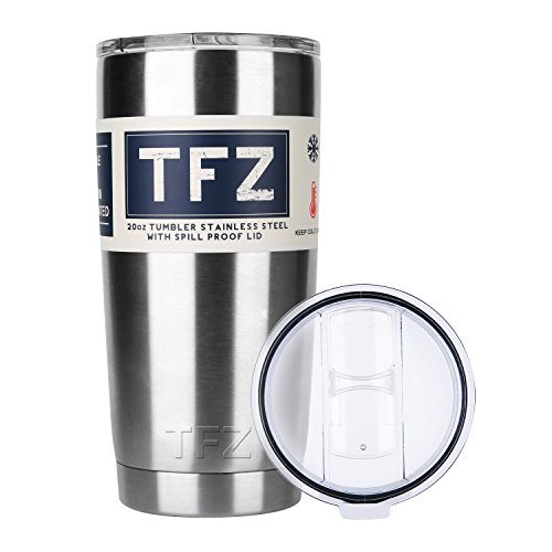 8 Ounce Room Tumbler (Insulated Coffee Mug & Beer Mug 20oz Large Capacity - Keeps Beer Ice Cold and Tea Coffee Hot Double Wall Vacuum Stainless Steel Cup by TFZ)