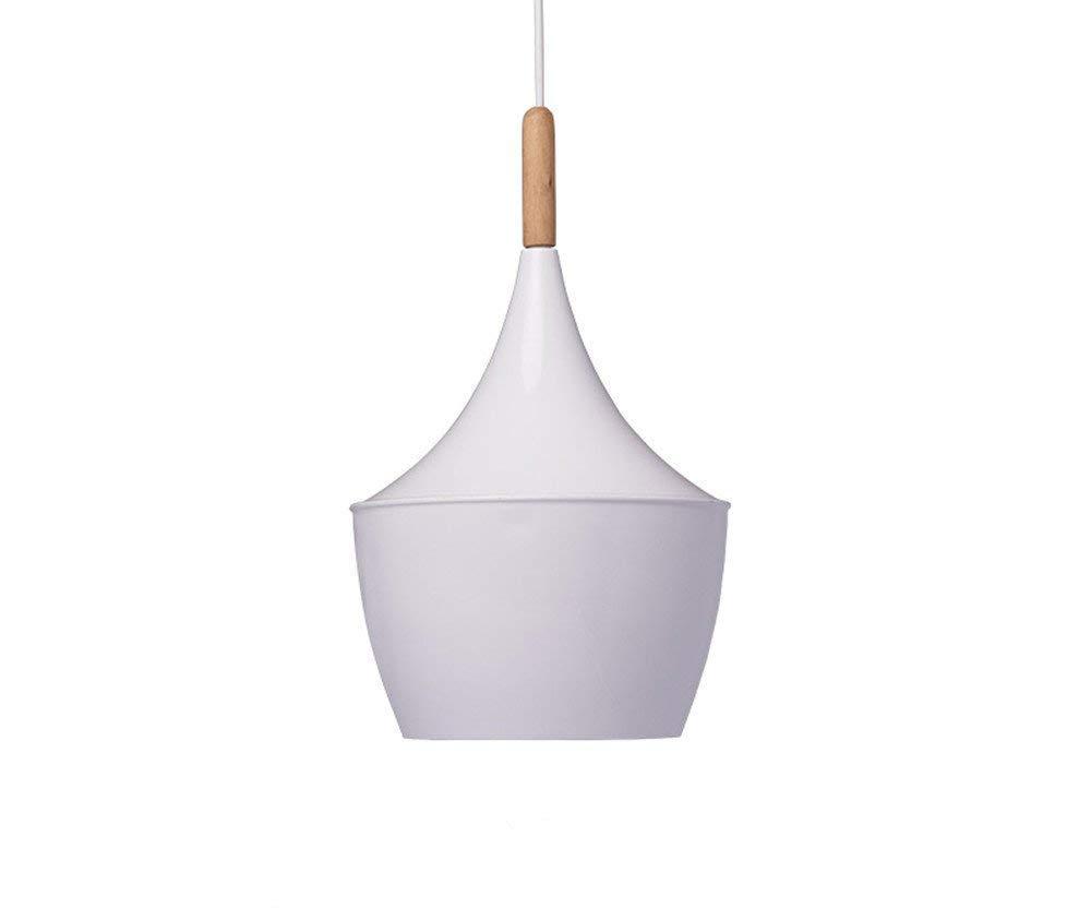BOKT 60W Single Head Ceiling Pendant Light fixtures Minimalist White Aluminum Hanging Chandelier Lighting Home Decor (Style B)