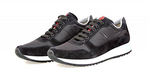 Prada Kvinners 3e5939 Skinn Sneaker ...
