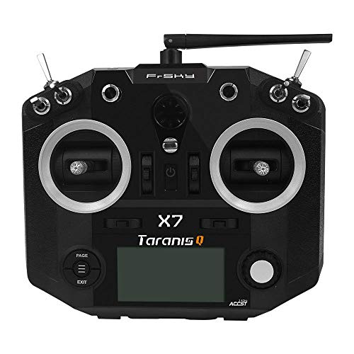 (FrSky 2.4G Accst Taranis Q X7 16 Channels Transmitter Remote Controller Black Battery and Battery Trays Not Include )