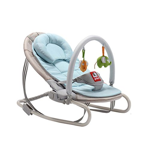 Baby Bouncer - Steel Pipe Baby Swing Chair And Cradle Baby Chair The Children's Bouncing Cradle Is Suitable For Newborns 0-36 Months,Skyblue