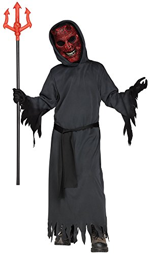 Fun World Big Boy's Smoldering Devil Costume Childrens Costume, Black, Medium ()