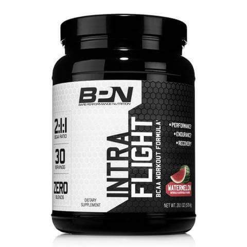 Bare Performance Nutrition | Intra-Flight | The Ultimate Endurance Supplement | 2:1:1 BCAA + Recovery (Watermelon, 30 Servings)
