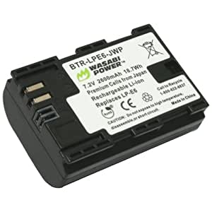 Wasabi Power Battery for Canon LP-E6, LP-E6N and Canon EOS 5D Mark II, EOS 5D Mark III, EOS 5DS, EOS 5DS R, EOS 6D, EOS 7D, EOS 7D Mark II, EOS 60D, EOS 60Da, EOS 70D, XC10