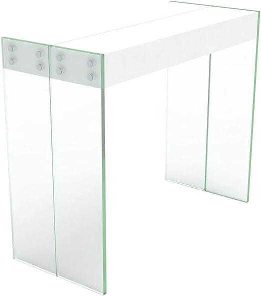 VE.CA.s.r.l. Mesa Consola Extensible Cristal/Madera – Extensible ...