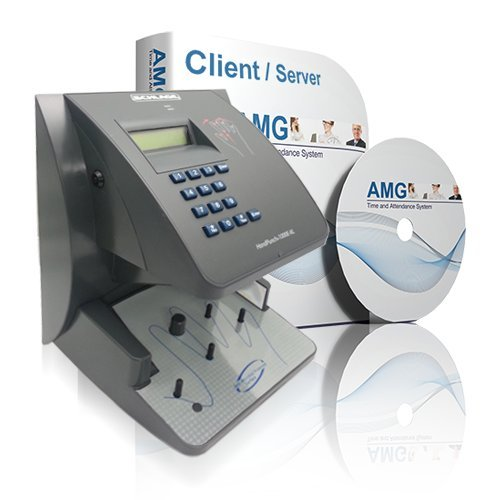 Schlage Biometric Hand Reader HP1000 with AMG Attendance Software 50 Employee License
