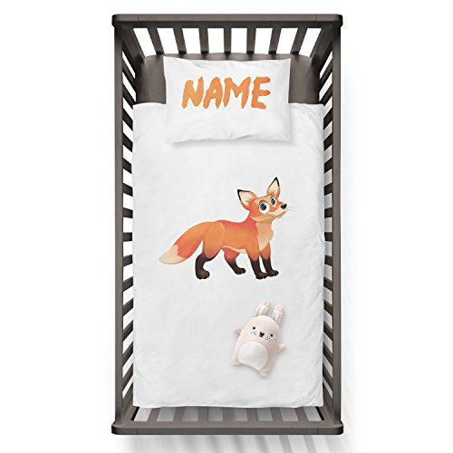 Zero Fox Given With Name On Pillow Funny Humor Hip Baby Duvet /Pillow set,Toddler Duvet,Oeko-Tex,Personalized duvet and pillow,Oraganic,gift by Jobhome
