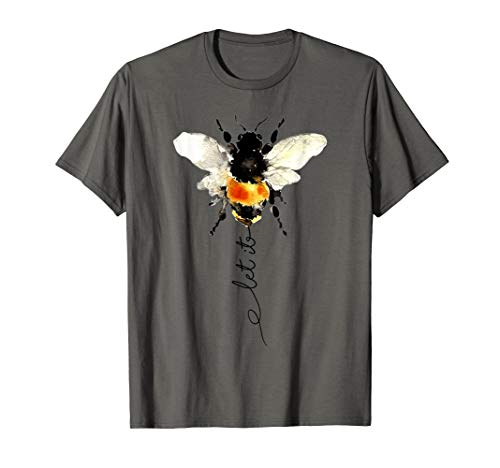 Bee Womens T-shirt - let it bee, let it be bee shirt, hippie bee t-shirt