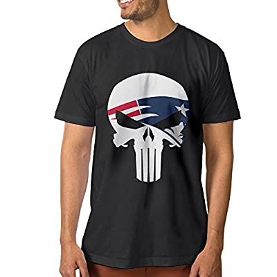 U9 Men's New England Skull Patriots T Shirt Black