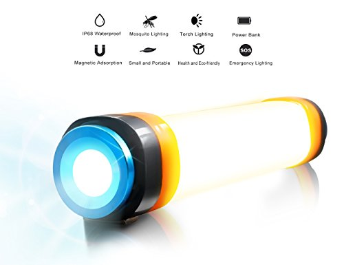 Camping Laterne, USB aufladbare LED Camp Lichter 6 Licht Modi, SOS ...