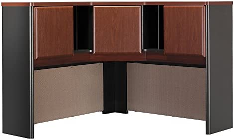 Bush Business Furniture Series A Collection 48W Corner Hutch in Hansen Cherry