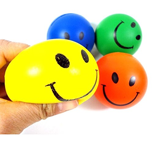 Kemilove 1 PC Mini Neon Smile Face Relaxable Balls, Random Color