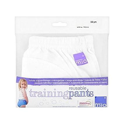 Bambino Mio Formación Pantalones Blancos 2-3 Años - Paquete de 2
