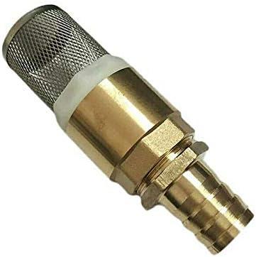 SENRISE - Válvula de retención de latón BSP de 1 pulgada, válvula de retención sin retorno, filtro de entrada de bomba para bomba (1 unidad)