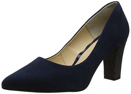 Piazza Women's 930511 Closed Toe Heels, Black Blue (Jeansblau)