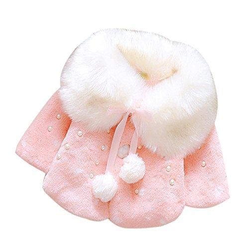 Yaheeda Baby Girl Plush Short Coat Cloak Jacket Outwear Snowsuit Ball Thick Warm Clothes