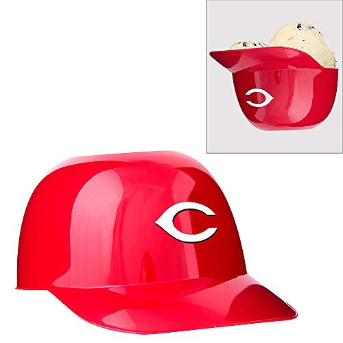 Jarden Sports Licensing MLB Cincinnati Reds Ice Cream Size Six Pack Helmet Snack Bowl, Mini, Red