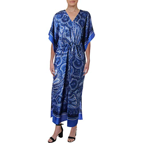 (Lauren Ralph Lauren Women's Paisley Georgette Maxi Dress Blue Multi 4)
