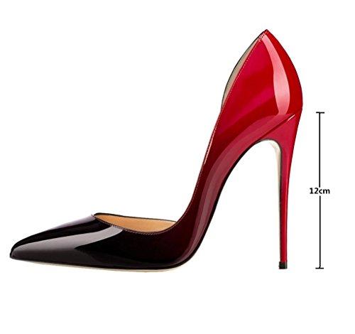 Scarpe 12CM col da Classiche col Pointy Scarpe Scarpe elashe Tacco Toe Donna Rosso Tacco 1wq6IUp