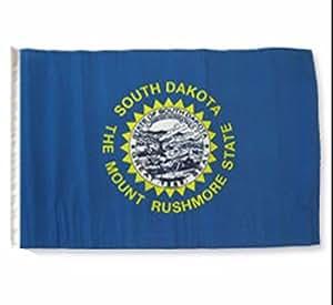 """12""""x18"""" Estado de Dakota del Sur bandera manga barco coche jardín Premium colores vivos y ultravioleta resistente a la decoloración mejor jardín Outdor lona encabezado y poliéster MATERIAL bandera"""