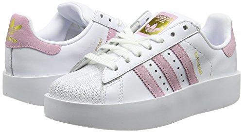 Blanc Bold Femme Superstar White Adidas Pink wonder footwear De Chaussures Fitness W Metallic gold H05C5qw