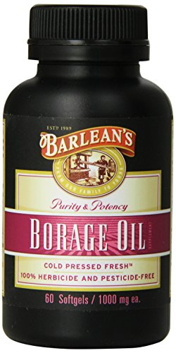 Barlean's Organic Oils Borage Oil, 1000 mg. 60 Count, (Softgels 60 Count Bottle)