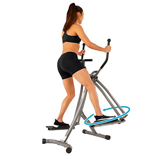 EFITMENT Air Walker Glider Elliptical Machine with Side Sway Action & 360 Motion for Exercise and Fitness - E020 by EFITMENT (Image #4)