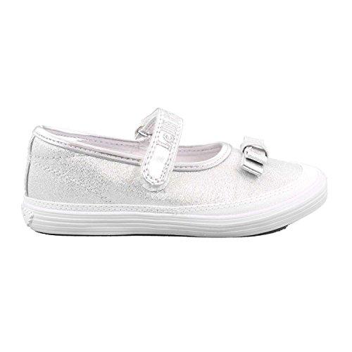 Lelli Kelly LK5300 (BH01) Argento New Sprint Shimmer Ballerina Dolly Shoes-27 (UK 9)