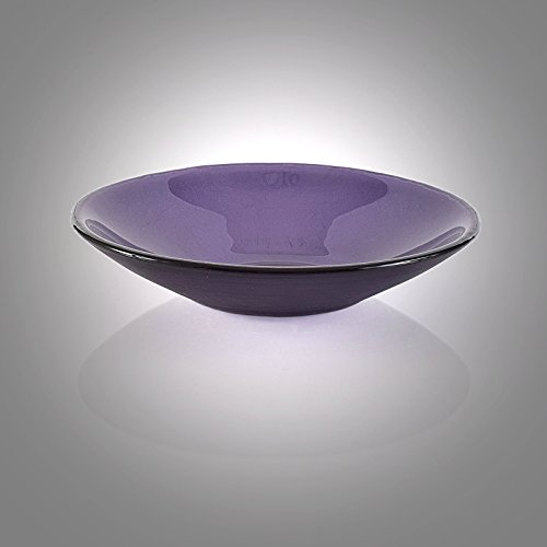 Iridescent Purple Glass Fruit Bowl