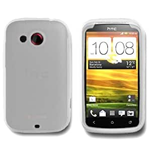 CoverON Soft Silicone CLEAR Skin Cover Case for HTC DESIRE C / WILDFIRE C / GOLF [WCF743]