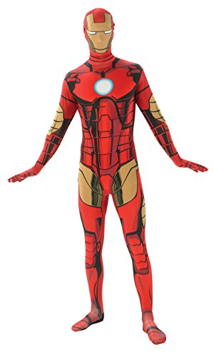 Iron Man Costumes For Adults (Rubie's Costume Men's Marvel Universe Iron Man Adult 2nd Skin Costume, Multi, Large)