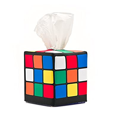 Rubik's Cube Tissue Box Cover, as seen in Sheldon's Apartment on the Big Bang Theory