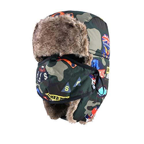 Winter Trooper Hat Russian Camouflage Trapper Hat Children Windproof Warm Bomber Cap