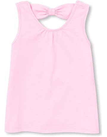 9c4b983c0c4 The Children s Place Baby Girls Solid Cutout Matchable Bow Back Tank Top